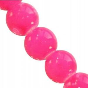 Koraliki szklane powlekane różowe 8 mm