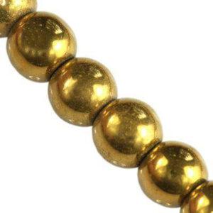 Koraliki szklane złote 8 mm