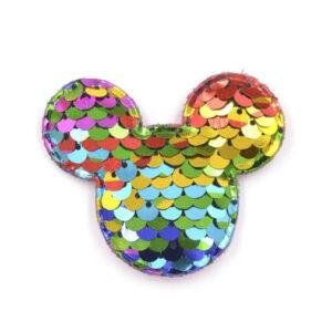 Naszywka Aplikacja Myszka Mickey z Cekinami