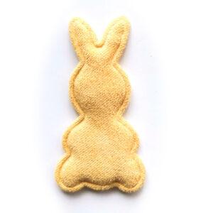 Naszywka Aplikacja królik żółty