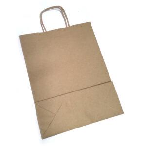 Papierowa torba szara eko 28x15x32