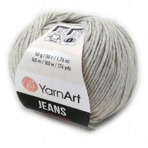 Włóczka YarnArt Jeans 50 g szary 80