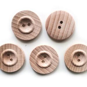 Guziki drewniane bukowe 23 mm 5 szt. 05