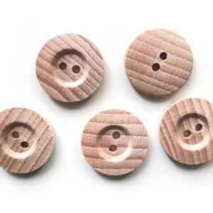 Guziki drewniane bukowe 20 mm 5 szt. 06