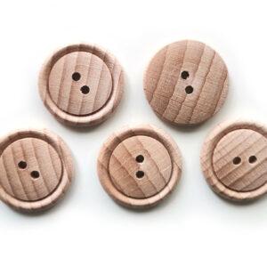 Guziki drewniane bukowe 20 mm 5 szt. 07