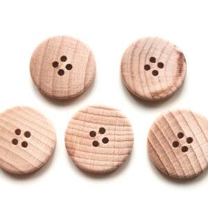 Guziki drewniane bukowe 23 mm 5 szt. 011
