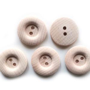 Guziki drewniane bukowe 25 mm 5 szt. 013