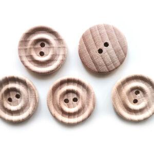 Guziki drewniane bukowe 23 mm 5 szt. 014