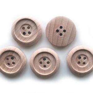 Guziki drewniane bukowe 23 mm 5 szt. 015
