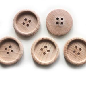 Guziki drewniane bukowe 23 mm 5 szt. 018