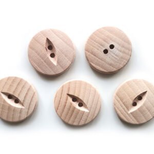 Guziki drewniane bukowe 15 mm 5 szt. 019