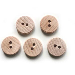 Guziki drewniane bukowe 15 mm 5 szt. 020