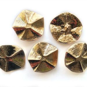 Guziki metalowe 34 mm stopka 5 szt. 106