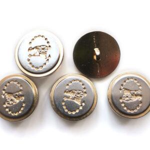 Guziki metalowe 20 mm stopka 113